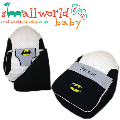 Personalised Girls Boys Batman Pre Filled Baby Bean Bag With Cover