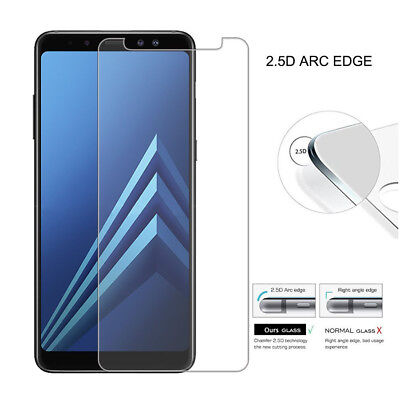 2x Tempered Glass Protective Screen Protector Film for Samsung Galaxy A8 2018