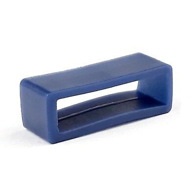 BLUE Rubber Watch Strap Keeper Loop  5 Sizes Available Retainer Band Hoop
