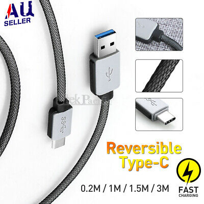 Strong Braided USB TypeC USB-C Data Snyc Charger Cable For Samsung S10 S10+ S10e