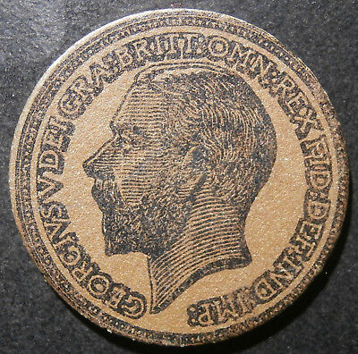 School teaching coin - Cardboard halfpenny 1912 George V - great condition