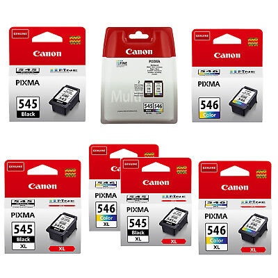Canon 545/546 & 545XL/546XL Black and Colour Ink Cartridges for Pixma iP2850