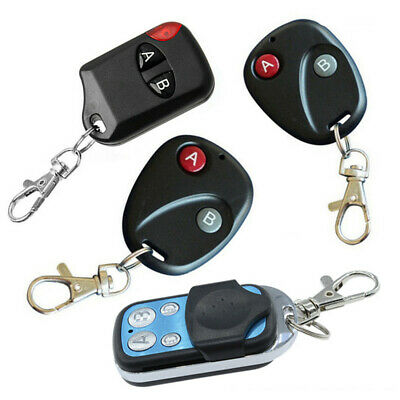 315/433Mhz RF Wireless Remote Control Transmitter 2/4 Key For Garage Gate Door