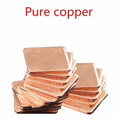 for Laptop GPU CPU VGA 10pcs 15x15x1mm Heatsink Copper Shim Thermal Pads
