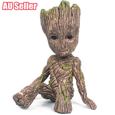 AU Guardians of The Galaxy Baby Groot Figure Flowerpot Pen Pot Toy Gifts 6CM BK