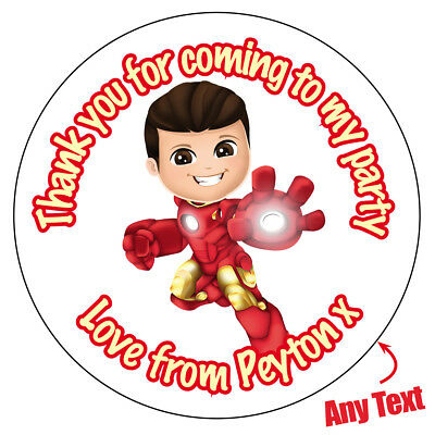 70 x CAPTAIN AMERICA Inspired Personalised Super hero Stickers Party Bag 842