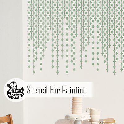 DIAMOND DROP Furniture Wall Stencil for Paint