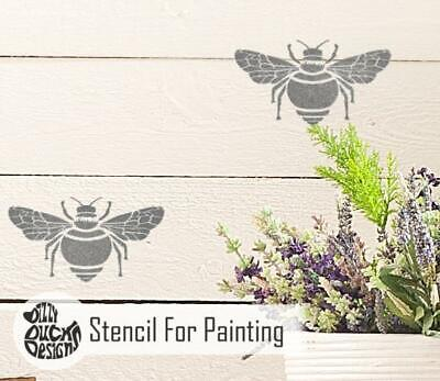 BUMBLE BEE Repeat Furniture Wall Stencil for Paint