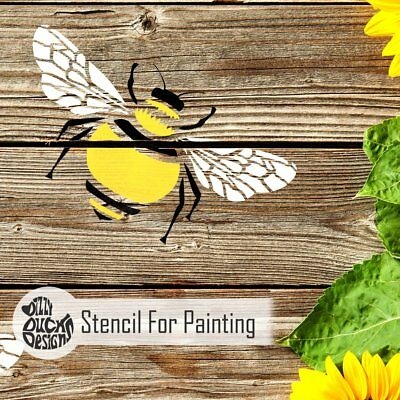 BUMBLE BEE Furniture Wall Stencil for Paint