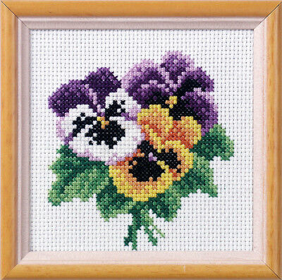 Orchidea - Printed / Stamped Cross Stitch Kit - Pansy - ORC.7511