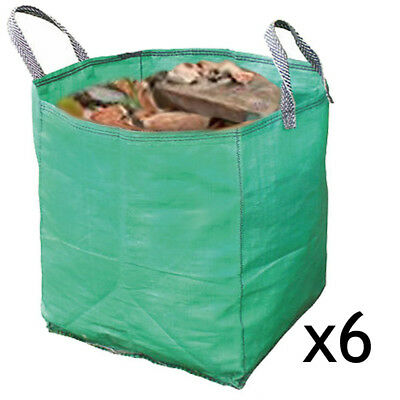 Builders Woven Reusable Work Bin Waste Bags Heavy Duty Rubble Sacks 120L x 6