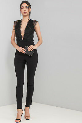 c5fdace1a50d ASOS JUMPSUIT WITH Lace Bodice and Contrast Satin Trouser (AS13 4 ...