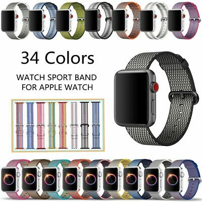 Sports Royal Woven Nylon Wrist Band Strap Bracelet For Apple Watch 38mm 42mm