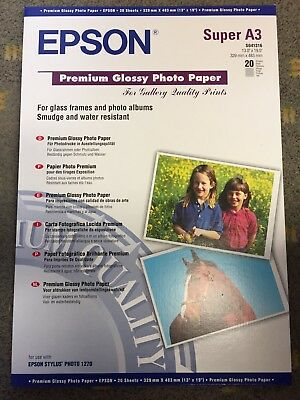 NEW Epson Premium - Glossy photo paper, Super A3/B (329 x 483 mm) - 255 g/m2-20