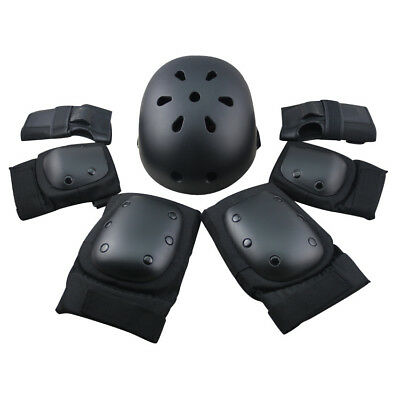 Skateboard & Scooter Helmet Full Set (Helmet, Knee, Elbow, Wrist) by Tranzite