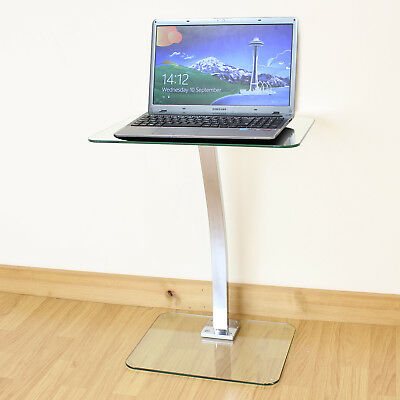 Clear Glass Laptop/Notebook Table Desktop Stand Sofa/Office/Computer Desk Tray