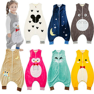 Soft New Baby Kids Boys Girls Animal Sleeping Bags With Feet AGE 1-7 years