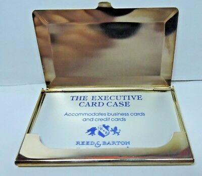 NOS New Antique Vintage REED BARTON Silver Plate Business Card Holder