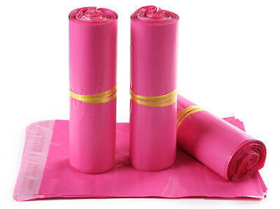 50/100X Pink Poly Mailers Shipping Envelopes Self Sealing Plastic Mailing Bags