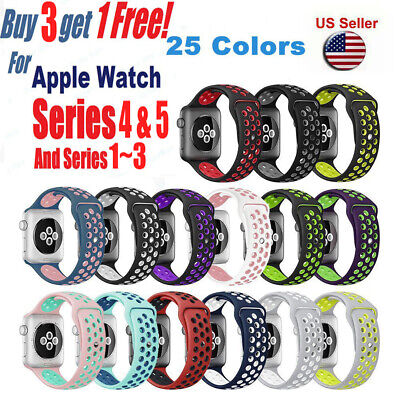 Replacement Silicone Sport Band Strap For Apple Watch 42mm 38mm Series 3 2 1