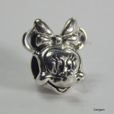 New Authentic Pandora Charm Minnie Portrait Disney 791587 W Suede Pouch