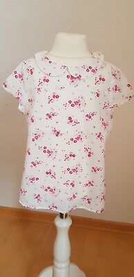 Benetton Bluse Tunika Gr. xs 110 weiss floral