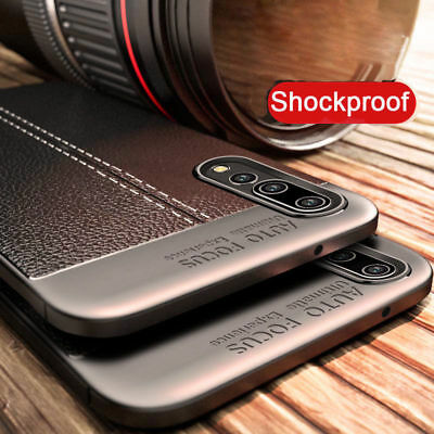 Slim Rubber TPU Leather Shockproof Back Case Cover For Huawei P20 Pro Lite/P10