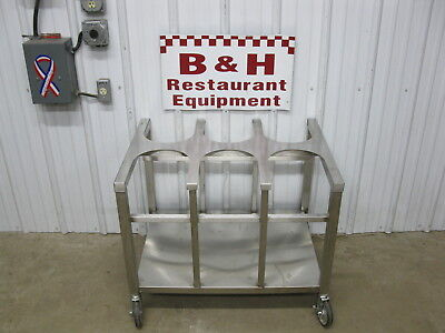 """25"""" x 33"""" Stainless Steel Six 2 Gallon Bucket Donut Icing Bakery Glazing Table"""