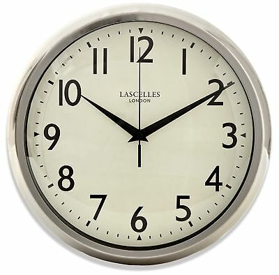 Lascelles Chrome Wall Clock With Sweep Seconds Hand 30cm