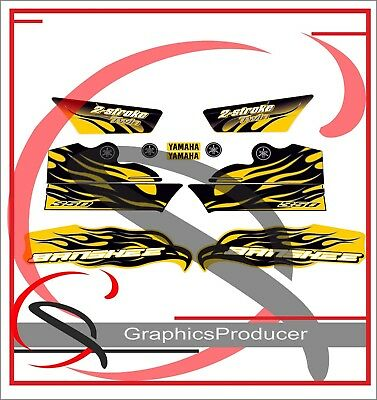 Yamaha Banshee Decals 2007 Red 350 Model Full Set Graphics For OEM Fender Yellow