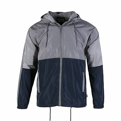 Beautiful Giant Men's Color Blocked Hooded Lightweight Windbreaker Zip up Jacket