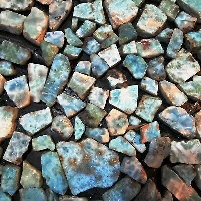 Natural Larimar Slab Best Premium Quality Wholesale Lot Rough Gemstone Video