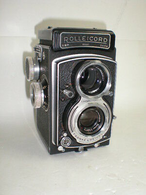 Vintage TLR Rolleicord mod. V w/ Xenar 1:3,5/75 red triangle Germany 1954 - 57