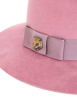 fe996ed8272da2 GUCCI CAMILLE VELOUR Felt Blush Authentic $660 Hat Size S New ...