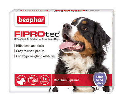 Beaphar Fiprotec Spot On Extra Large Dogs (40kg+) 1 Treatment Flea Tick 5 Weeks