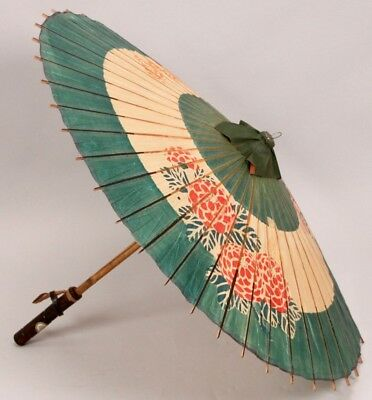 RARE 1937 Pan American Exposition DALLAS TEXAS Asian JAPANESE Bamboo Umbrella