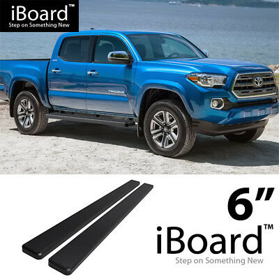 """5/"""" Silver eBoard Running Boards For 2005-2018 Nissan Frontier Crew Cab Pickup"""