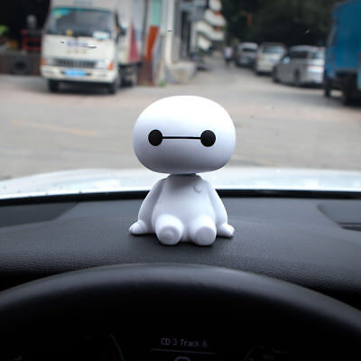 NEW Cute Bobble head BIG HERO 6 BAYMAX Car Auto Decoration Action Figures Toy US