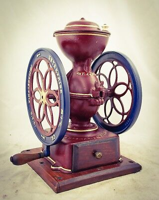 Antique PHILADELPHIA ENTERPRISE Coffee Grinder Mill Moulin cafe Molinillo