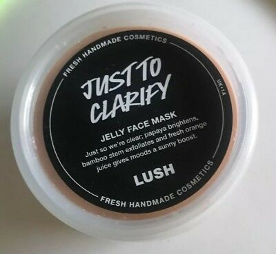 *LUSH* Just To Clarify Face Mask BRAND NEW jelly
