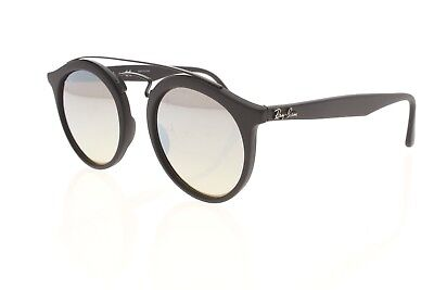 6039980918 RAY-BAN RB 4256 6253 B8 Black   Brown Mirrored Gradient Sunglasses New W