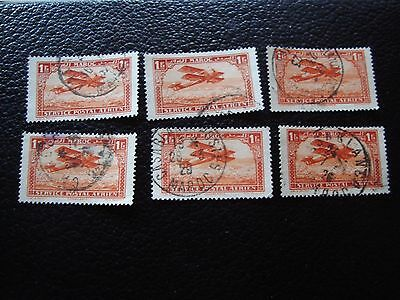 morocco - stamp yvert and tellier air n° 7 x6 obl (A29) stamp morocco
