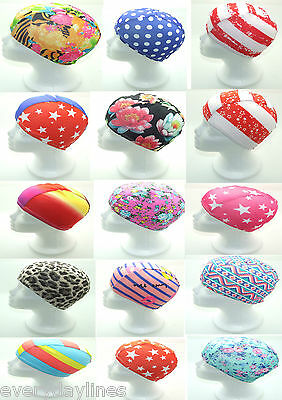 Novelty Stretched Fabric Swimming Cap - Shower Cap - Adult Size Pick Your Style
