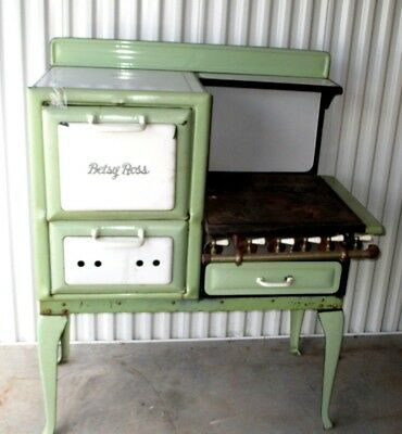 """1920-30's Porcelain-Gas Stove- Betsy Ross- Model- All Org- Must See-43"""""""