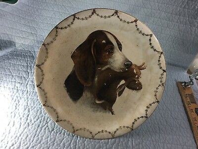 RARE 1920'S K.T. & K. CHINA Beagle Hunting Dog and Rabbit - Knowles Antique