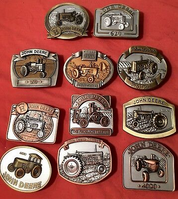 Lot of New John Deere Belt Buckles The Bradford Exchange with certificates 2008