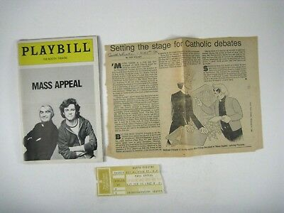 Mass Appeal Playbill 1982 Booth Theatre Michael OShea Michael OKeefe Ticket