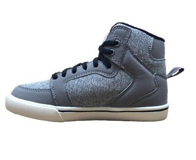 3fb3ee16997a6b FADED GLORY YOUTH Boys Gray HighTop Shoes Size 2 -  9.99