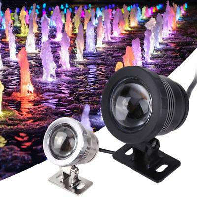 Waterproof IP68 Fountain Pool Aquarium Lamp 10W 12V Underwater RGB Led Light