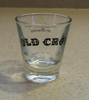 Old Crow Kentucky Whiskey Shot Glass Frankfort Ky